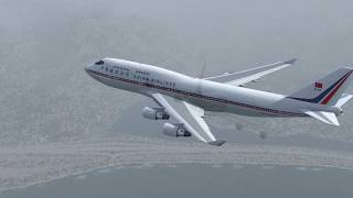 Boeing 747 Crashes in Hong Kong - China Airlines Flight 605 - P3D