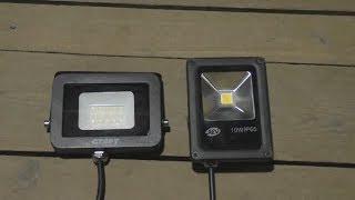 Какой LED светодиодный прожектор лучше,обзор и ночной тест.(, 2017-09-27T02:17:02.000Z)