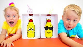 Gaby and Alex plays Drink & Soda challenge