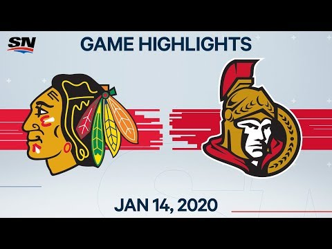 NHL Highlights   Blackhawks vs. Senators – Jan. 14, 2020
