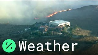 Simi Valley: Wildfire Erupts Near Ronald Reagan Presidential Library in Southern California