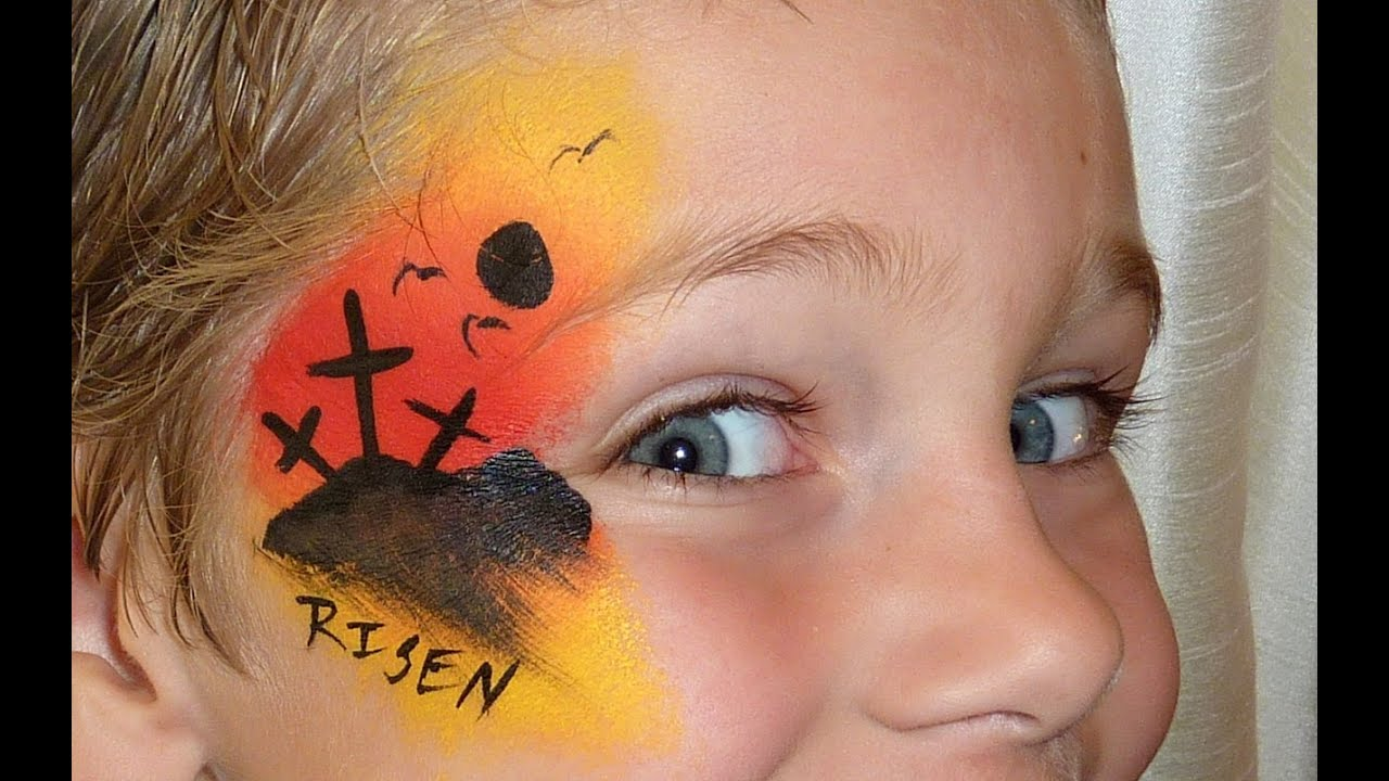 Cool Boy Easter Face Painting Design - YouTube