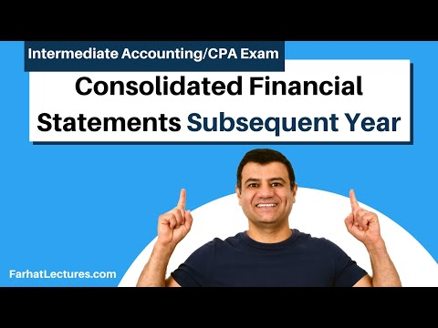 Consolidate Financial Statement Subsequent Year | Advanced Accounting | CPA Exam FAR | Ch 4 P 4