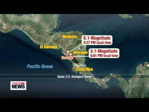 6.1-magnitude earthquake strikes western Nicaragua