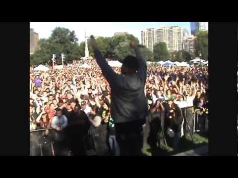 "Styles P ""Good times"" at Boston Freedom Rally"