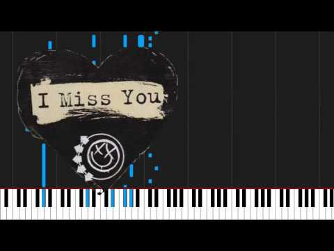 How To Play I Miss You By Blink182 On Piano Sheet Music Youtube