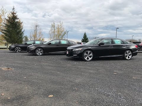 2018 Honda Accord Sport, EX, Touring comparison