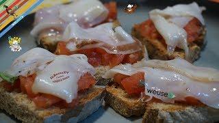 399 - Crostini con tartare di pomodoro e lardo di colonnata...la toscana va assaggiata! (antipasto)