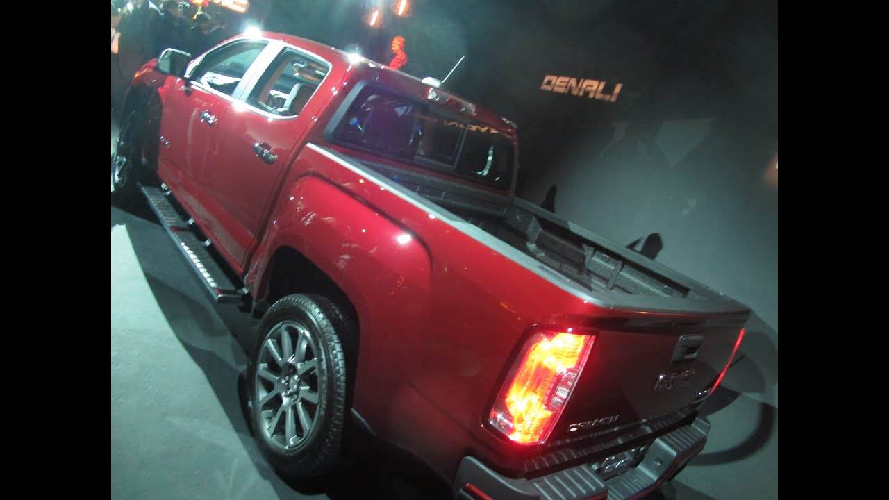 Fantastic First Look At The 2017 GMC Canyon Denali At The 2015 LA