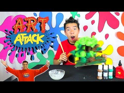 SEGUI un TUTORIAL de ART ATTACK (Escondite Secreto Árbol) - Ami Rodriguez