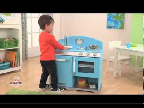 KidKraft Kochherd aus Omas Zeiten, blau 53252
