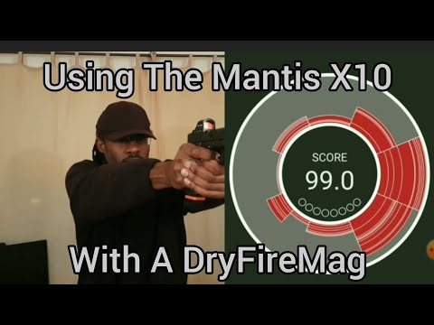 Using the Mantis X10 Elite system with the DryFireMag - dry fire - trigger press - drills