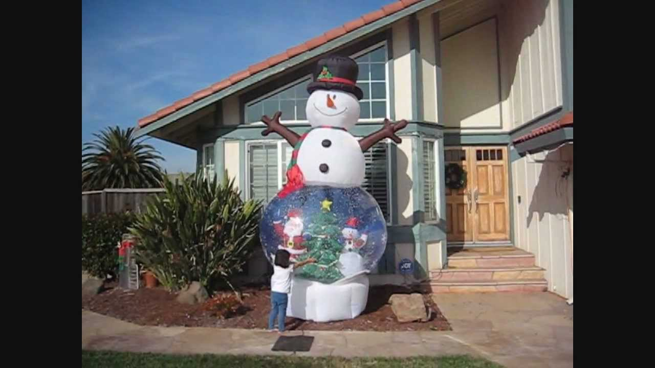 Giant foot inflatable snowman snowglobe by gemmy youtube