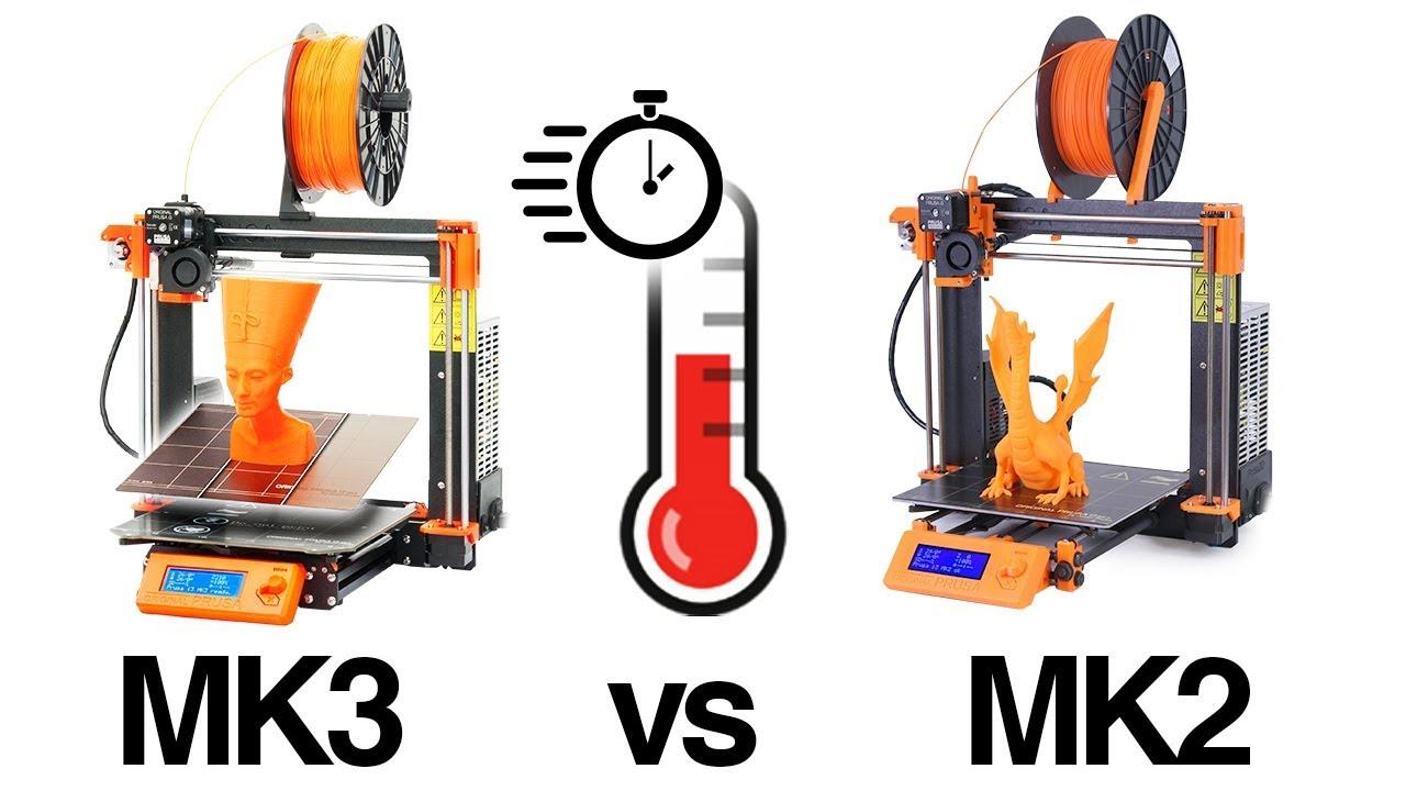 Original Prusa i3 MK3 vs MK2 warm up time