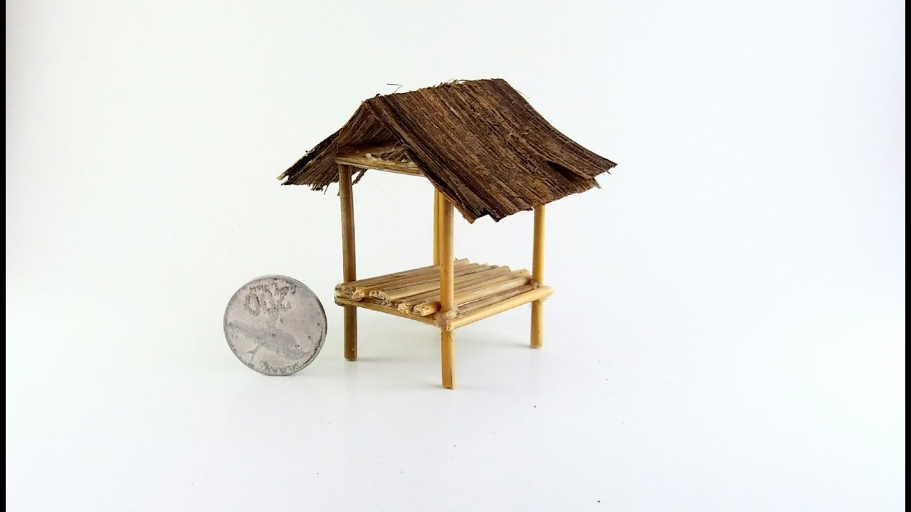 Gambar Rumah Gubug How To Make Hut Miniature | Indonesian Traditional