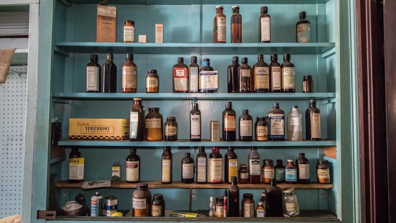 Abandoned 1950's Drug Store - Medicine Still Shelved! (Ghost Town)