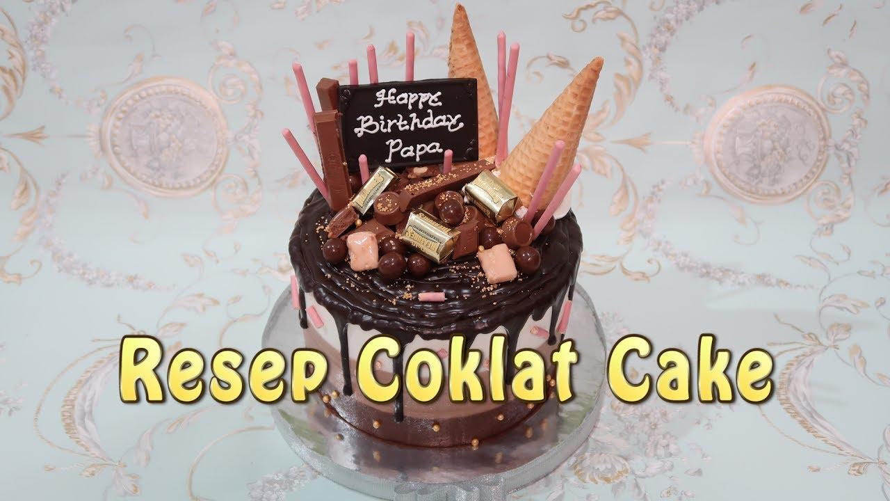 How to make Birthday Cake Chocolate Drip Cake Recipe YouTube