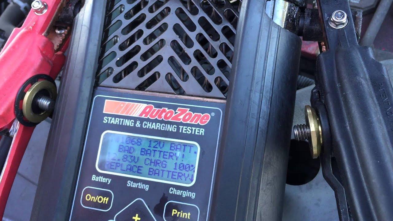 Autozone Battery Test >> Autozone Car Battery Diagnosis Coltrane Davis Youtube