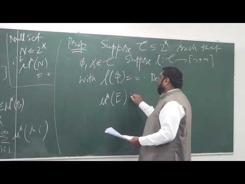 Lecture 6 (Part 4): Lebesgue measure as a consequence of Caratheodry theorem