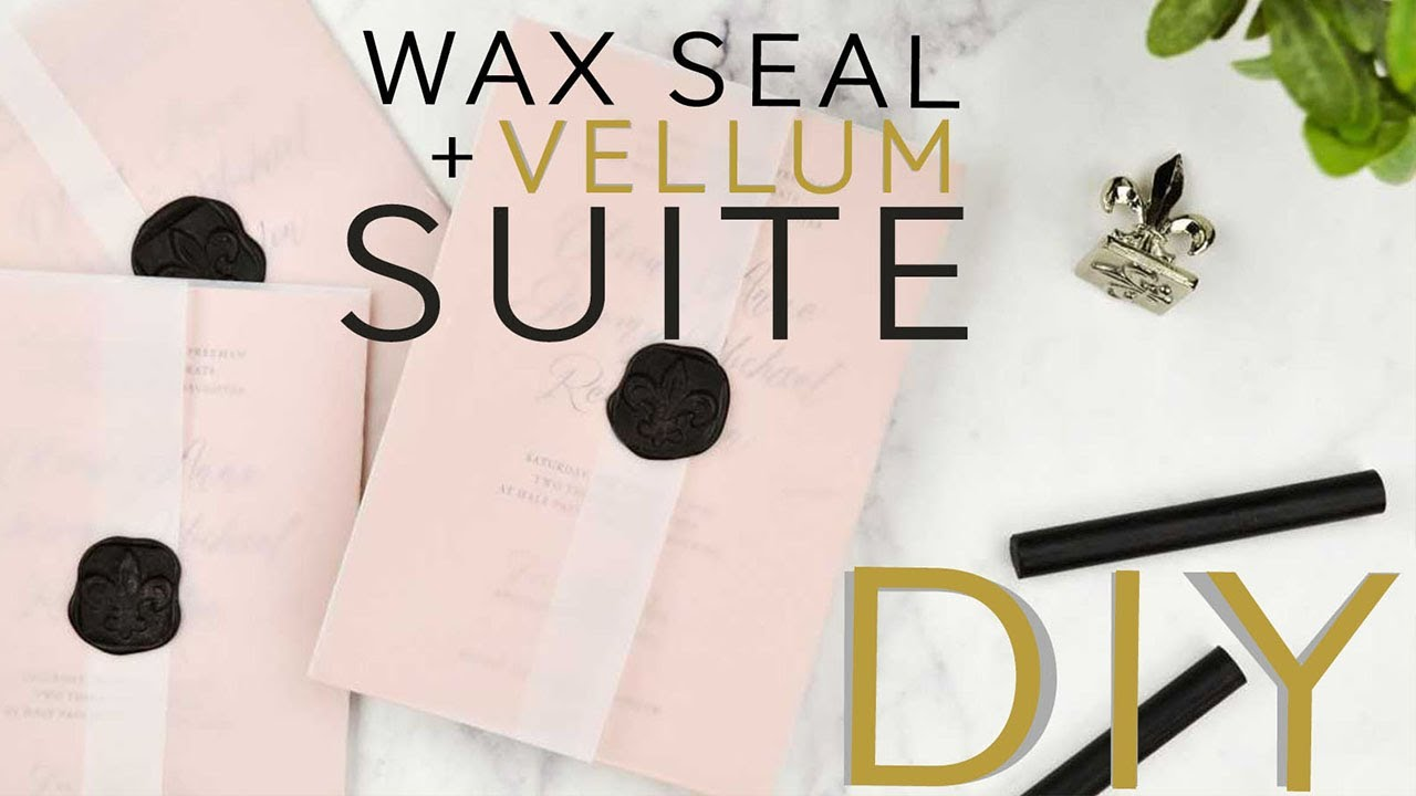 Diy Wax Seal Vellum Invitation Suite