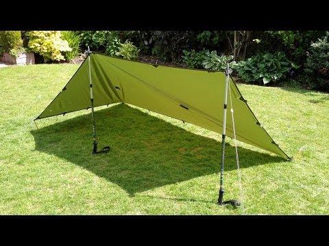 5 Tarp Shelter set-ups with a 9'x5' silnylon tarp