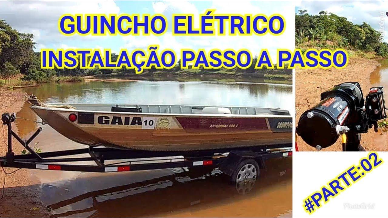 Carreta para barco de alumínio (Guincho Elétrico) Instalação  #Parte:02