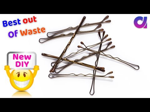2 Best use of waste hair pins craft idea   BEST OUT OF WASTE   DIY ROOM DECOR   Artkala 438