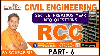 civil engineering ssc je previous year mcq questions rcc part 5  ssc je railway  state exam