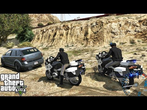 GTA 5 MODS LSPDFR 1025 - MOTORCYCLE HIGHWAY PATROL!!! (GTA 5 REAL LIFE PC MOD)