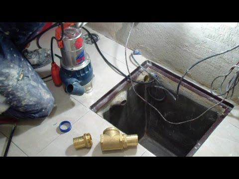 Come installare una pompa sommersa in un pozzetto di calcestruzzo-How to install a submersible  pump