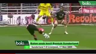 Balon anak ini bantu sunderland cetak gol ke gawang liverpool