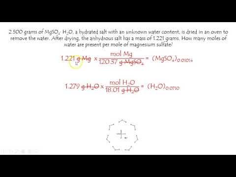 Hydrate Abundance Mole Problem For MgSO4