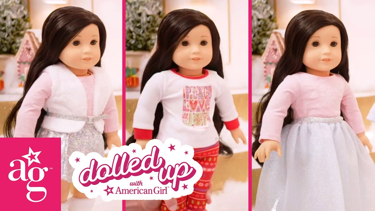 Cute Sparkly Mix & Match Holiday Outfits | Dolled Up With American Girl | @American Girl