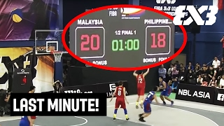 Thrilling last minute - Malaysia v Philippines - FIBA 3x3