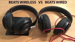 Beats Studio Wired Vs Beats Studio Wireless Headphone Review!(Beats Studio Wireless Unboxing and comparing against the Beats Studio Wired pair. Both in matte black., 2016-01-21T16:44:01.000Z)