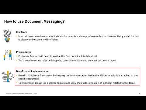 Procurement - Document Messaging