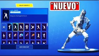 "*NEW* SKIN ""WHITE ALAT CABALLERO"" WITH EPIC BAILES CUSTOMIZED IN FORTNITE !!"
