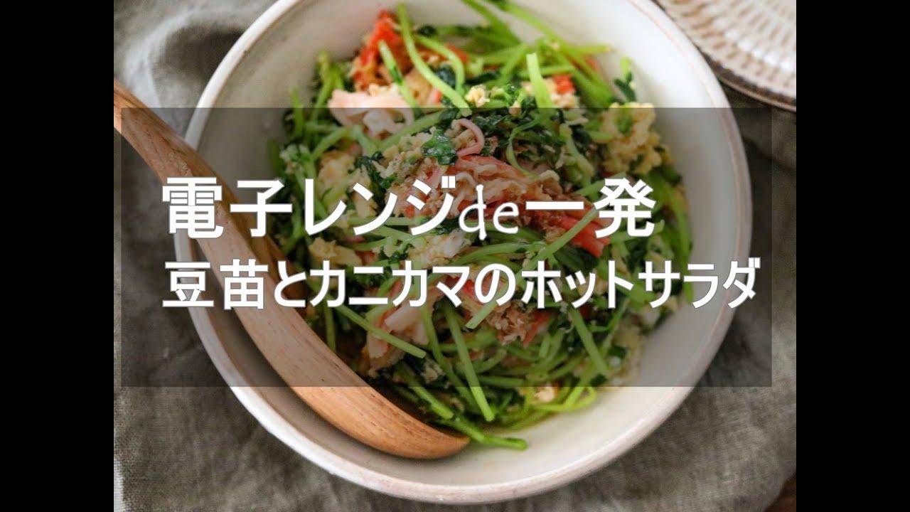 レンジ 豆 苗 レシピ