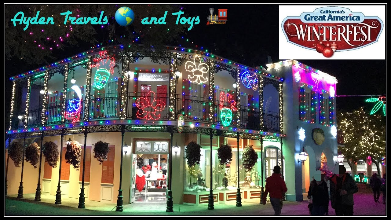 winterfest great america amusement park christmas lights decorations kids adult rides family fun youtube