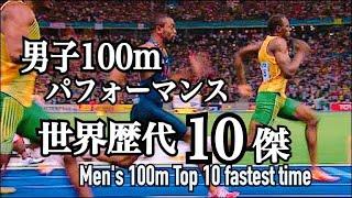 【陸上】男子100mパフォーマンス世界歴代10傑 - Men's 100m Top 10 Fastest Time Ever Recorded - thumbnail