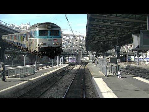Voyage en cabine d'un BB 67400 de Paris-Est à Meaux [Transilien P]