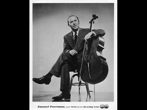 Feuermann - Brahms Cello Sonata No 1, 1934 READ BELOW