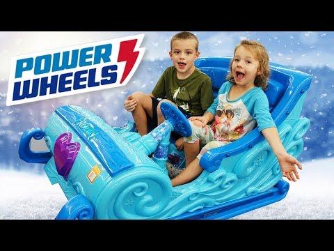 Power Wheels Disney Princess Frozen Elsa's Car Sleigh + Shopping For Fashems Toys & Donating Toys