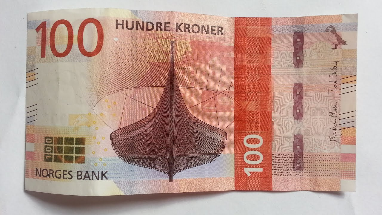New 100 Norwegian Krone Nok Banknote 2017 Youtube