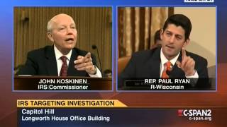 Paul Ryan blasts IRS commissioner: