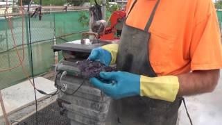 Prep Work: Fluorite Crystals, Okorusu Mine, Otjiwarongo, Otjozondjupa, Namibia - Part 4 of 4