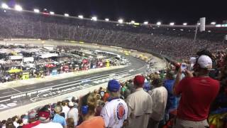 The start of the 2016 Bass Pro Shops Night Race at Bristol from the stands.