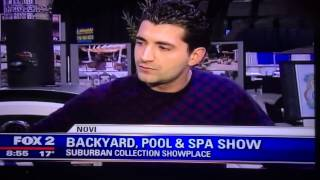 Antonelli Landscape Featured On Fox News At The Novi Pool And Spa Show