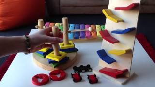Toy Showcase 2: Xylophone, Rolling Cars, Twist Disk