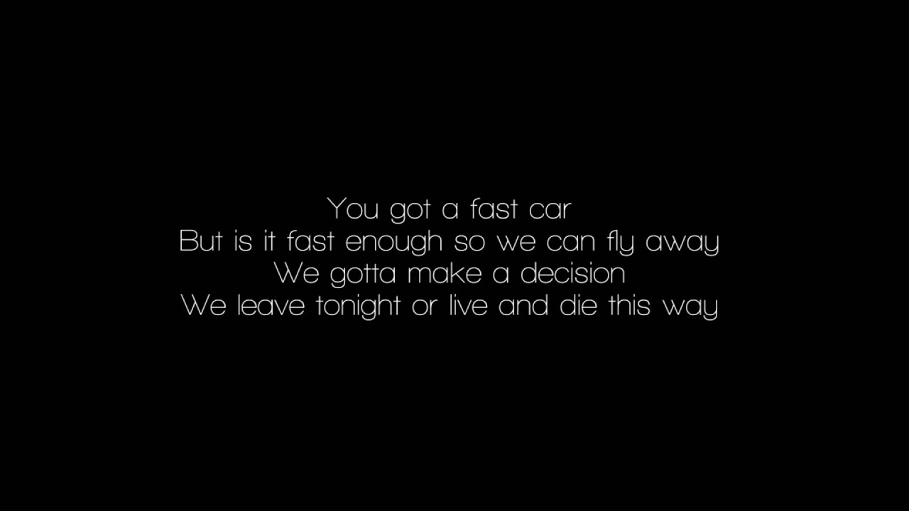 Fast Car Youtube: Tracy Chapman ( Cover With Lyrics )